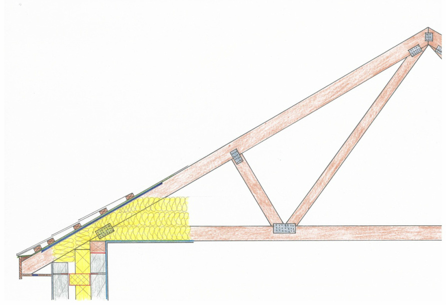 Trussed roof roof truss spacing for Prefabricated roof